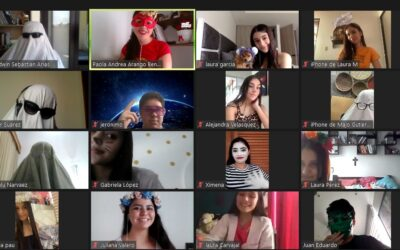 Celebración virtual del Halloween